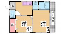 パンション飛松[3F号室]の間取り