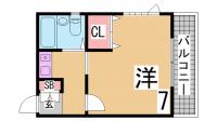 サンパレス21須磨[2階]の間取り