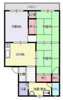 八幸第2マンション[312号室]の間取り