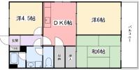 東今宿中村コーポⅡ[303号室]の間取り