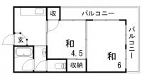 谷垣マンション[201号室]の間取り