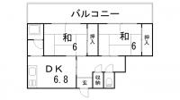 五光マンション[3-13号室]の間取り