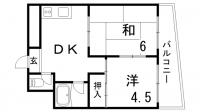 鯉川マンション[8階]の間取り