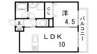 リアン春日野道[4階]の間取り