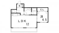 リアン春日野道[2階]の間取り