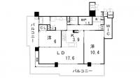 エルグレース神戸三宮タワーステージ[21F号室]の間取り