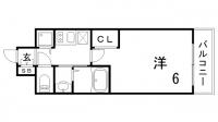 エステムコート三宮EASTⅣザ・フロント[2階]の間取り