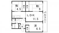 鈴蘭台ハウス4号棟[1階]の間取り