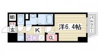 兵庫県神戸市中央区栄町通5丁目の賃貸マンションの間取り