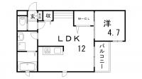 兵庫県神戸市中央区野崎通4丁目の賃貸アパートの間取り