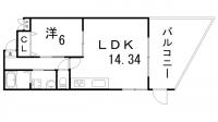 プレジール兵庫駅前[101号室]の間取り