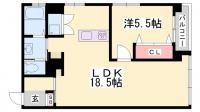ワコーレアルテ上筒井[6階]の間取り