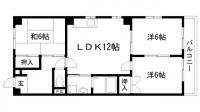 古家マンション[3号室]の間取り