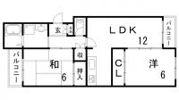 上筒井パークハイツ[3階]の間取り