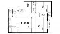 西村マンション[301号室]の間取り
