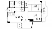 タウンハウス熊内[4階]の間取り