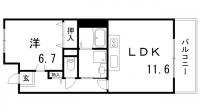 ルネシティ脇浜町[2-204号室]の間取り