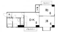 兵庫県神戸市中央区野崎通4丁目の賃貸マンションの間取り