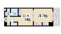 プレジール三宮Ⅱ[6階]の間取り