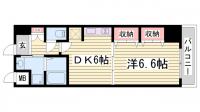 プレジール三宮Ⅱ[808号室]の間取り