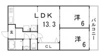 シャトードフェニックス[7階]の間取り