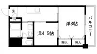 湊川センタービルA棟[8階]の間取り