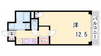 グルーブ三宮Aria[5階]の間取り