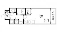 カスタリア三宮[9階]の間取り