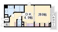 デルファーレ神戸三宮[603号室]の間取り