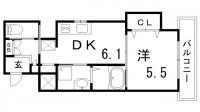 グランアクシス[3階]の間取り