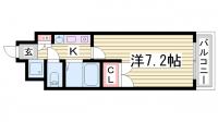 神戸多聞マンション[602号室]の間取り
