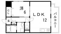 サンライズ壱番館[6階]の間取り