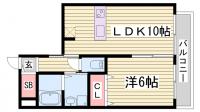 ブリリオ神戸北野町[2階]の間取り