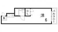 シャルル三宮東[402号室]の間取り