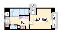 アーバネックス新神戸[8階]の間取り
