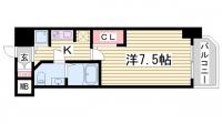S-RESIDENCE神戸磯上通[9階]の間取り
