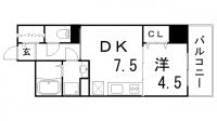 神戸ハーバーサイド萬利レジデンス[5階]の間取り