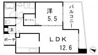 ワコーレディアルクス三宮[802号室]の間取り