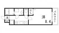 リブリ芦原[2階]の間取り