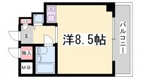 ライオンズマンション神戸西元町[708号室]の間取り