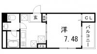 サントル花隈[1階]の間取り