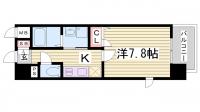 エスリード神戸三宮パークビュー[8階]の間取り