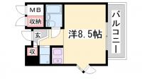 ライオンズマンション神戸西元町[4階]の間取り