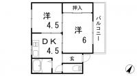 三建マンション[4B号室]の間取り