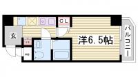 グリーン・ネス神戸駅前[1007号室]の間取り