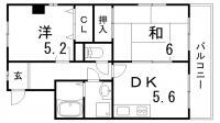 クレスト羽坂[3階]の間取り