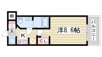 S-RESIDENCE神戸磯上通[2階]の間取り