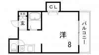 INK熊内パーク[2階]の間取り