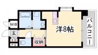 ジアコスモ神戸三宮[202号室]の間取り