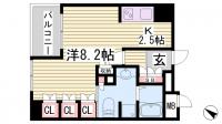 リーガル神戸中山手通[8号室]の間取り